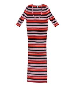 bar III Womens Metallic Striped Sweater Dress