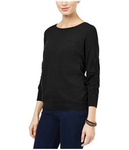 I-N-C Womens Ruched-Sleeve Knit Sweater