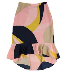 bar III Womens Colorblocked Trumpet Skirt