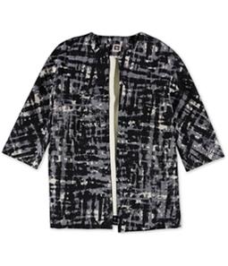 Anne Klein Womens Printed Blazer Jacket