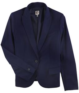 Anne Klein Womens Solid One Button Blazer Jacket