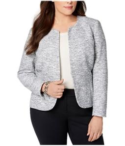 Anne Klein Womens Collarless Blazer Jacket