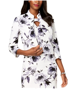 Kasper Womens Floral Blazer Jacket