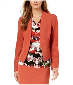 Nine West Womens Collarless Blazer Jacket
