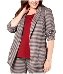 Nine West Womens Houndstooth Blazer Jacket