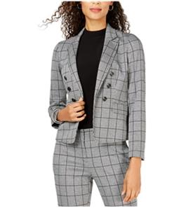 Kasper Womens Open-Front Double Breasted Blazer Jacket