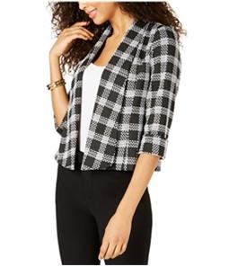 Kasper Womens Wide-Lapel Blazer Jacket