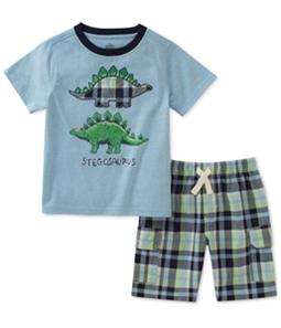 Kids Headquarters Boys Stegosaurus 2-Piece T-Shirt Set