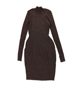 bar III Womens Metallic Sweater Dress