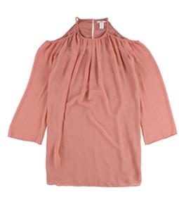 bar III Womens Cold Shoulder A-line Dress