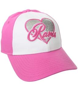 New Era Girls Glitter Heart Rams Baseball Cap
