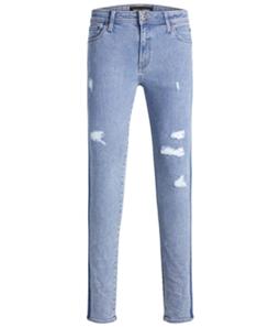 Jack &J ones Mens Side Stripe Slim Fit Jeans