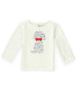 Gymboree Girls Puppies Bow Graphic T-Shirt