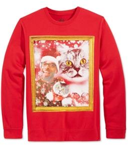 American Rag Mens Cat Owner Faceswap Sweatshirt