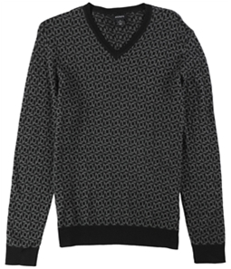 Alfani Mens Geometric Pullover Sweater