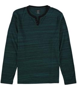 Alfani Mens Textured Henley Shirt