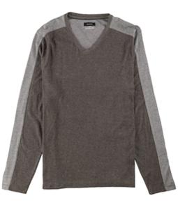 Alfani Mens Textured LS Basic T-Shirt
