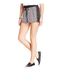 Joe & Elle Womens Printed Lace-trim Casual Mini Shorts