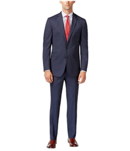 Kenneth Cole Mens Pin Stripe Two Button Formal Suit