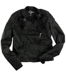 Ecko Unltd. Womens Pu Jkt Pleather Motorcycle Jacket