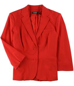 Ralph Lauren Womens Twill Two Button Blazer Jacket