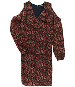 Ralph Lauren Womens Floral A-line Cold Shoulder Dress
