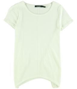 Ralph Lauren Womens Handkerchief Hem Basic T-Shirt