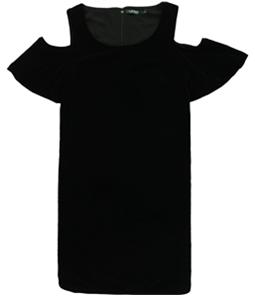 Ralph Lauren Womens Cold Shoulder A-line Dress