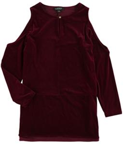 Ralph Lauren Womens Velvet Knit Blouse