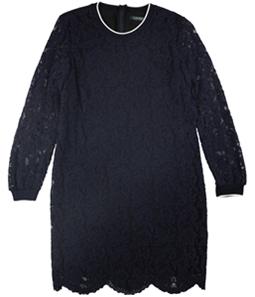 Ralph Lauren Womens Stripe Trim Lace Mini Dress