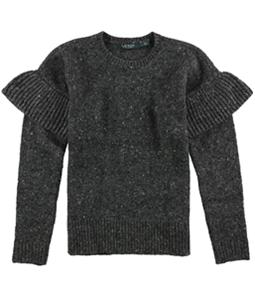 Ralph Lauren Womens Ruffle Sleeve Pullover Sweater