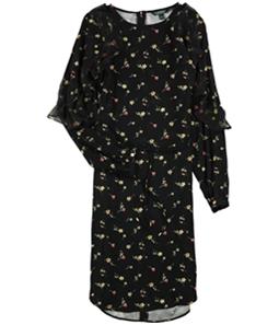 Ralph Lauren Womens Floral Ruffled Dress