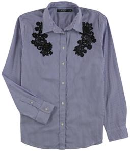 Ralph Lauren Womens Embellished Button Up Shirt