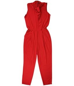 Ralph Lauren Womens Tie Neck Jumpsuit