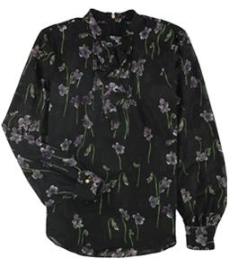 Ralph Lauren Womens Mockneck Zip-up Blouse