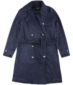 Ralph Lauren Womens Prunella Denim Trench Coat