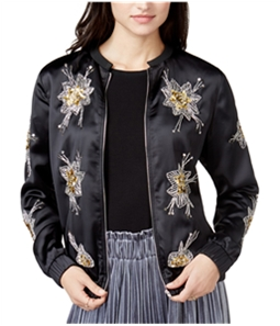 Endless Rose Womens Embroidered Bomber Jacket
