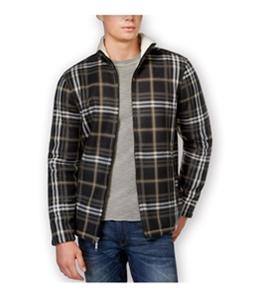Club Room Mens Plaid FZ Fleece Jacket