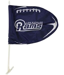 WinCraft Unisex LA Rams Football Shaped Car Flag Souvenir