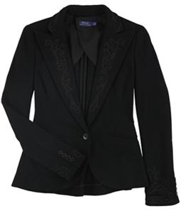 Ralph Lauren Womens Beaded One Button Blazer Jacket
