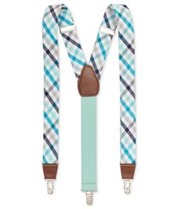 Club Room Mens Plaid Medium Suspenders