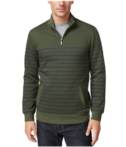 Club Room Mens Striped 1/4 Zip Sweatshirt