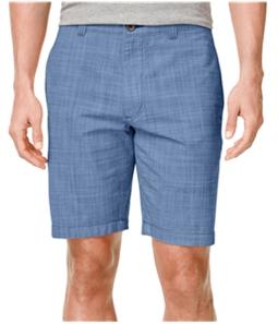 Club Room Mens Micro-Check Casual Walking Shorts