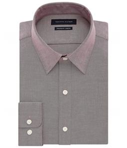 Tommy Hilfiger Mens Flex-Collar Button Up Dress Shirt