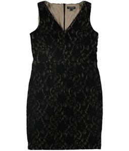 Ralph Lauren Womens Velvet Lace Sheath Dress