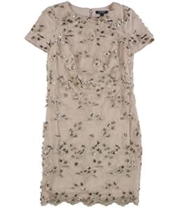 Ralph Lauren Womens Embroidered Lace Sheath Dress
