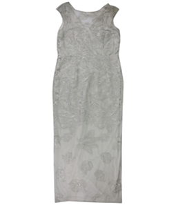 Ralph Lauren Womens Floral Embroidered Gown Dress
