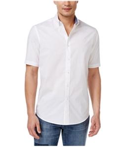 Club Room Mens Bancroft Poplin Button Up Shirt
