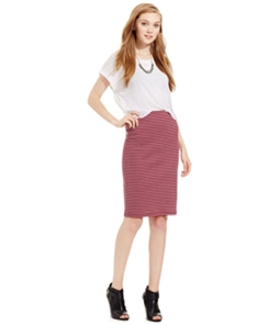 Ultra Flirt Womens Ribbed Midi Pencil Skirt