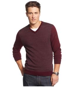 Club Room Mens Merino Wool Herringbone Jacquard Pullover Sweater
